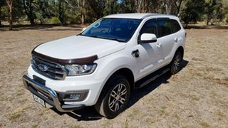 2018 Ford Everest UA II 2019.00MY Trend Arctic White 10 Speed Sports Automatic SUV