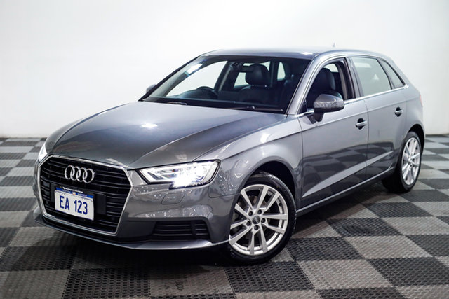 Used Audi A3 8V MY16 Attraction Sportback S Tronic Edgewater, 2016 Audi A3 8V MY16 Attraction Sportback S Tronic Grey 7 Speed Sports Automatic Dual Clutch