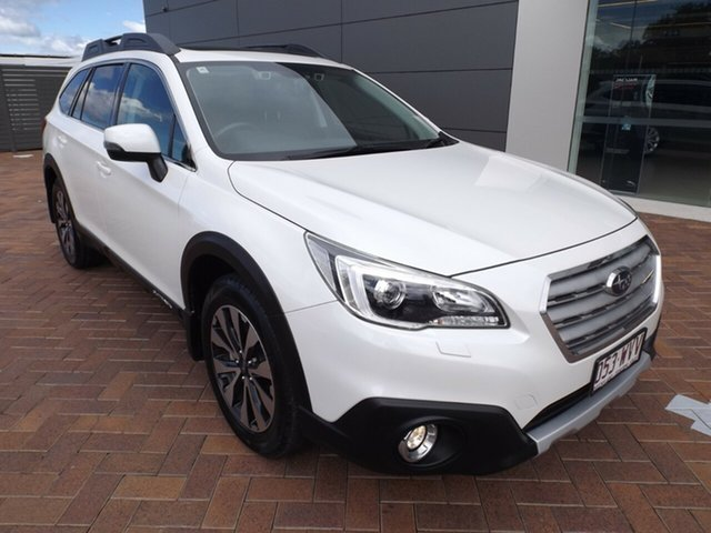 Used Subaru Outback B6A MY17 2.5i CVT AWD Premium Toowoomba, 2016 Subaru Outback B6A MY17 2.5i CVT AWD Premium White 6 Speed Constant Variable Wagon
