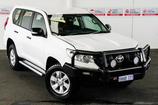 Pre-Owned Toyota Landcruiser Prado GDJ150R MY18 GX (4x4) Myaree, 2018 Toyota Landcruiser Prado GDJ150R MY18 GX (4x4) Glacier White 6 Speed Manual Wagon