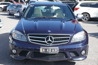 2008 Mercedes-Benz C-Class W204 C63 AMG Blue 7 Speed Sports Automatic Sedan.