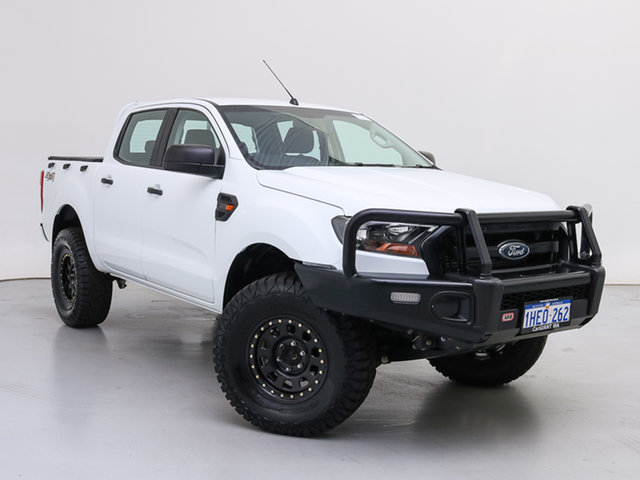 Used Ford Ranger PX MkII MY17 XL 3.2 (4x4), 2017 Ford Ranger PX MkII MY17 XL 3.2 (4x4) White 6 Speed Manual Crew Cab Chassis