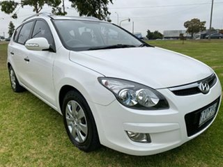 2012 Hyundai i30 FD MY11 SX cw Wagon White 4 Speed Automatic Wagon.