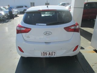 2015 Hyundai i30 GD4 Series 2 Active X White 6 Speed Automatic Hatchback.