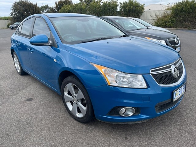 Used Holden Cruze JH Series II MY14 Equipe Devonport, 2013 Holden Cruze JH Series II MY14 Equipe Perfect Blue 6 Speed Sports Automatic Sedan