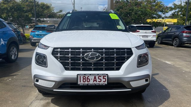 Demo Hyundai Venue QX.V3 MY21 Elite Moorooka, 2020 Hyundai Venue QX.V3 MY21 Elite Polar White 6 Speed Automatic Wagon