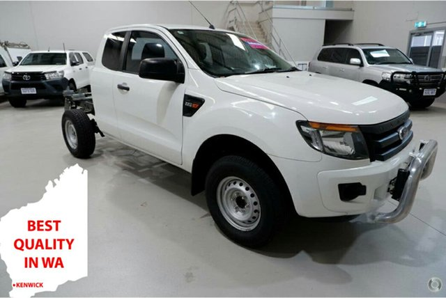 Used Ford Ranger PX XL Hi-Rider Kenwick, 2015 Ford Ranger PX XL Hi-Rider White 6 Speed Sports Automatic Cab Chassis