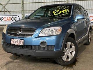 2007 Holden Captiva CG MY08 SX AWD Blue 5 Speed Sports Automatic Wagon.