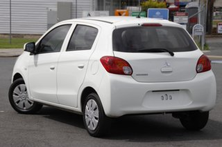 2014 Mitsubishi Mirage LA ES White Continuous Variable Hatchback.