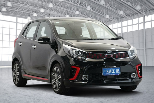 Used Kia Picanto JA MY20 GT-Line Victoria Park, 2020 Kia Picanto JA MY20 GT-Line Black 5 Speed Manual Hatchback