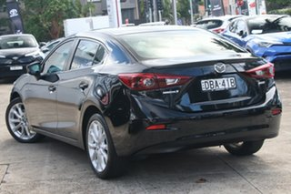 2015 Mazda 3 BM MY15 SP25 Astina Crystal Black Pearl 6 Speed Automatic Sedan.