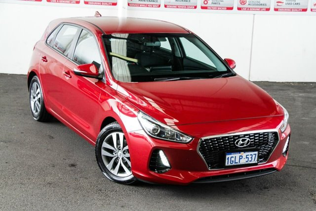 Pre-Owned Hyundai i30 PD Active Rockingham, 2018 Hyundai i30 PD Active Red 6 Speed Auto Sequential Hatchback