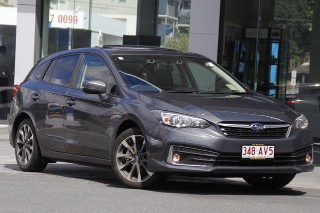 Demo Subaru Impreza G5 MY21 2.0i Premium CVT AWD Mount Gravatt, 2021 Subaru Impreza G5 MY21 2.0i Premium CVT AWD Magnetite Grey 7 Speed Constant Variable Hatchback