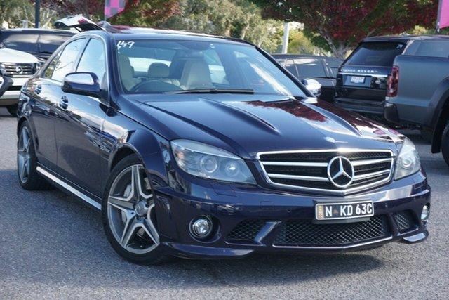 Used Mercedes-Benz C-Class W204 C63 AMG Phillip, 2008 Mercedes-Benz C-Class W204 C63 AMG Blue 7 Speed Sports Automatic Sedan
