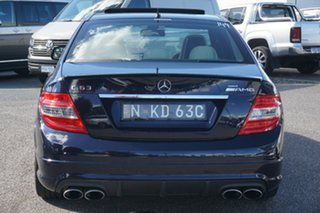 2008 Mercedes-Benz C-Class W204 C63 AMG Blue 7 Speed Sports Automatic Sedan