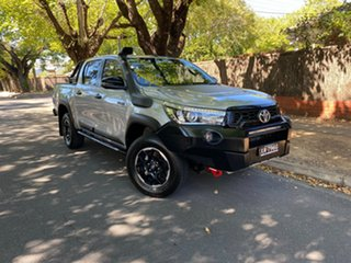 2018 Toyota Hilux GUN126R Rugged X Double Cab Silver 6 Speed Manual Utility.