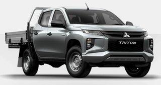 2021 Mitsubishi Triton MR MY21 GLX Double Cab Silver 6 Speed Manual Cab Chassis
