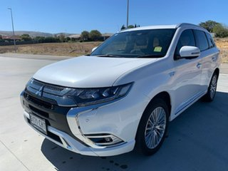 2018 Mitsubishi Outlander ZL MY19 PHEV AWD Exceed White 1 Speed Automatic Wagon Hybrid.