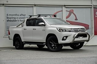 2017 Toyota Hilux GUN126R SR5 Double Cab Glacier White 6 Speed Sports Automatic Utility.