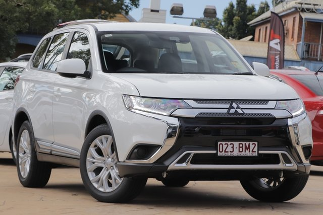 Demo Mitsubishi Outlander ZL MY21 ES AWD Toowoomba, 2020 Mitsubishi Outlander ZL MY21 ES AWD White 6 Speed Constant Variable Wagon