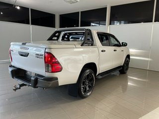 2018 Toyota Hilux GUN126R Rogue Double Cab White 6 Speed Sports Automatic Utility.