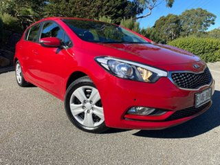 2015 Kia Cerato YD MY15 S Temptation Red 6 Speed Sports Automatic Hatchback