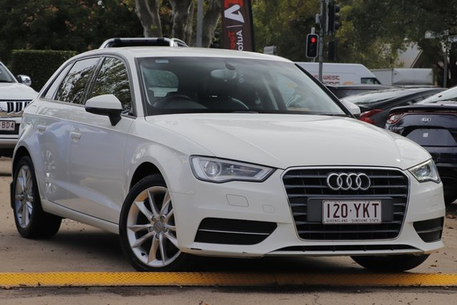 Used Audi A3 8V MY15 Attraction Sportback S Tronic Toowoomba, 2014 Audi A3 8V MY15 Attraction Sportback S Tronic White 7 Speed Sports Automatic Dual Clutch