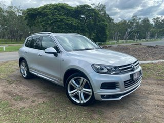 2012 Volkswagen Touareg 7P MY13 V8 TDI Tiptronic 4MOTION R-Line Silver 8 Speed Sports Automatic.