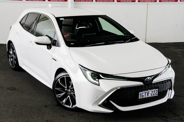 Pre-Owned Toyota Corolla ZWE211R ZR E-CVT Hybrid Myaree, 2019 Toyota Corolla ZWE211R ZR E-CVT Hybrid Glacier White 10 Speed Constant Variable Hatchback