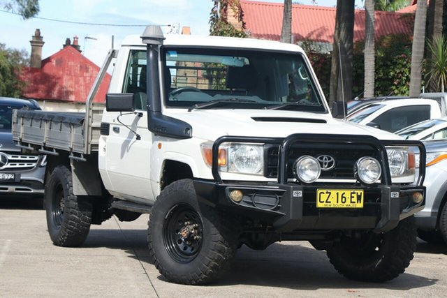 Pre-Owned Toyota Landcruiser VDJ79R 09 Upgrade Workmate (4x4) Mosman, 2011 Toyota Landcruiser VDJ79R 09 Upgrade Workmate (4x4) French Vanilla 5 Speed Manual Cab Chassis