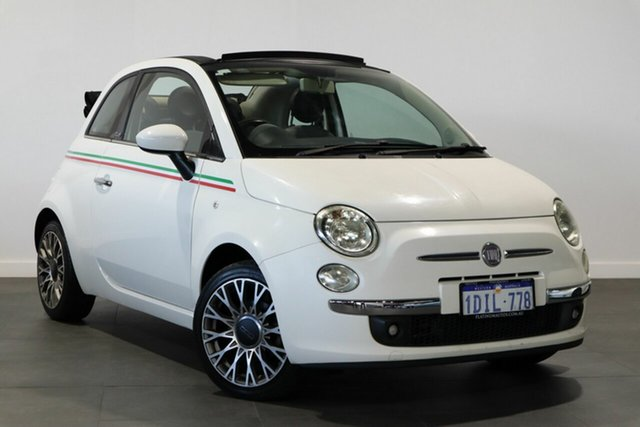 Used Fiat 500C Series 1 Bayswater, 2010 Fiat 500C Series 1 White 6 Speed Manual Convertible