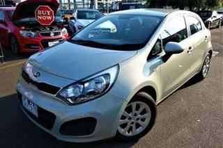 2013 Kia Rio UB MY13 S Grey 4 Speed Sports Automatic Hatchback.