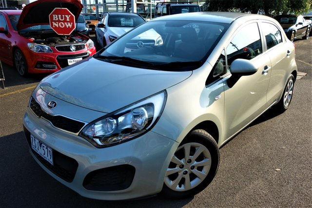 Used Kia Rio UB MY13 S Seaford, 2013 Kia Rio UB MY13 S Grey 4 Speed Sports Automatic Hatchback