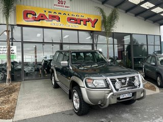 2000 Nissan Patrol GU TI (4x4) Green 4 Speed Automatic 4x4 Wagon.