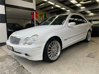 2002 Mercedes-Benz C-Class W203 C180 Kompressor Classic White Automatic Sedan