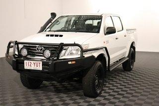 2013 Toyota Hilux KUN26R MY12 SR Double Cab Glacier 4 speed Automatic Utility.