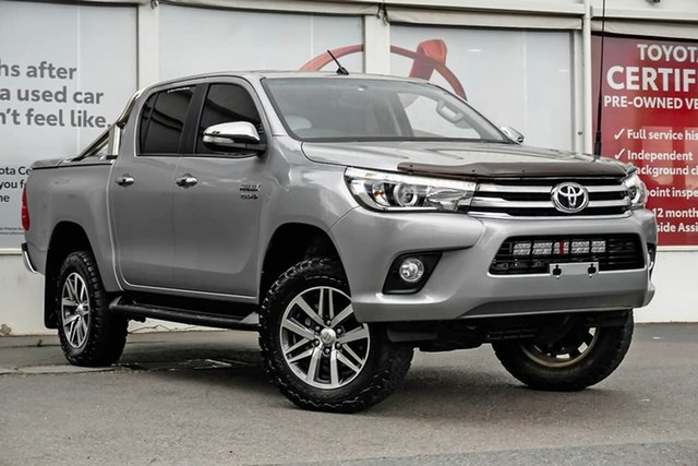 Pre-Owned Toyota Hilux GUN126R SR5 Double Cab Ferntree Gully, 2015 Toyota Hilux GUN126R SR5 Double Cab Silver Sky 6 Speed Sports Automatic Utility