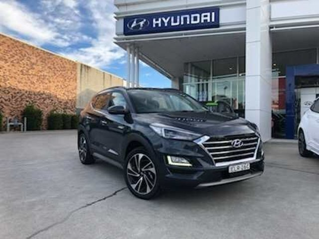 Demo Hyundai Tucson TL3 MY21 Highlander AWD Cardiff, 2020 Hyundai Tucson TL3 MY21 Highlander AWD Dusk Blue 8 Speed Sports Automatic Wagon