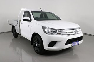2017 Toyota Hilux GUN123R SR White 5 Speed Manual Cab Chassis.