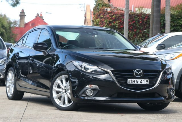 Pre-Owned Mazda 3 BM MY15 SP25 Astina Mosman, 2015 Mazda 3 BM MY15 SP25 Astina Crystal Black Pearl 6 Speed Automatic Sedan