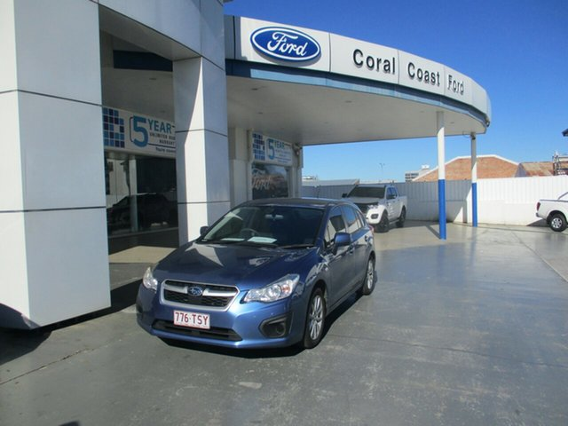 Used Subaru Impreza MY14 2.0I (AWD) Bundaberg, 2014 Subaru Impreza MY14 2.0I (AWD) Blue 6 Speed Manual Hatchback