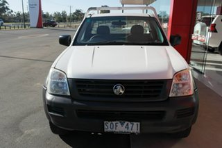 2004 Holden Rodeo RA DX White 5 Speed Manual Cab Chassis.