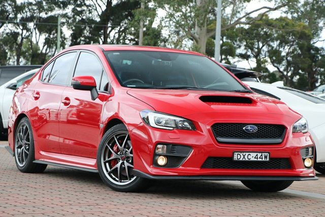 Pre-Owned Subaru WRX V1 MY16 Premium Lineartronic AWD Warwick Farm, 2015 Subaru WRX V1 MY16 Premium Lineartronic AWD Red 8 Speed Constant Variable Sedan