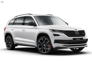 2020 Skoda Kodiaq NS MY21 RS DSG White 7 Speed Sports Automatic Dual Clutch Wagon.