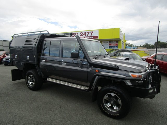 Used Toyota Landcruiser VDJ79R GXL Double Cab Kedron, 2017 Toyota Landcruiser VDJ79R GXL Double Cab Grey 5 Speed Manual Cab Chassis