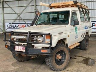 2004 Toyota Landcruiser HDJ78R RV Troopcarrier White 5 Speed Manual Wagon.