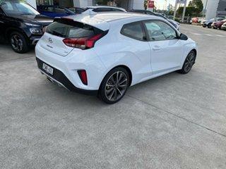 2019 Hyundai Veloster JS MY20 Coupe Chalk White 6 Speed Automatic Hatchback.