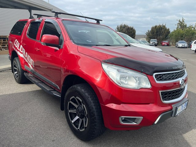 Used Holden Colorado RG MY16 LT Crew Cab 4x2 Devonport, 2016 Holden Colorado RG MY16 LT Crew Cab 4x2 Red/4bc 6 Speed Manual Utility