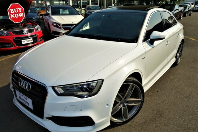 Used Audi A3 8V MY15 Ambition S Tronic Seaford, 2015 Audi A3 8V MY15 Ambition S Tronic White 7 Speed Sports Automatic Dual Clutch Sedan