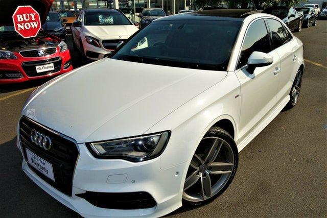 Used Audi A3 8V MY15 Ambition S Tronic Seaford, 2015 Audi A3 8V MY15 Ambition S Tronic White 7 Speed Sports Automatic Dual Clutch Sedan
